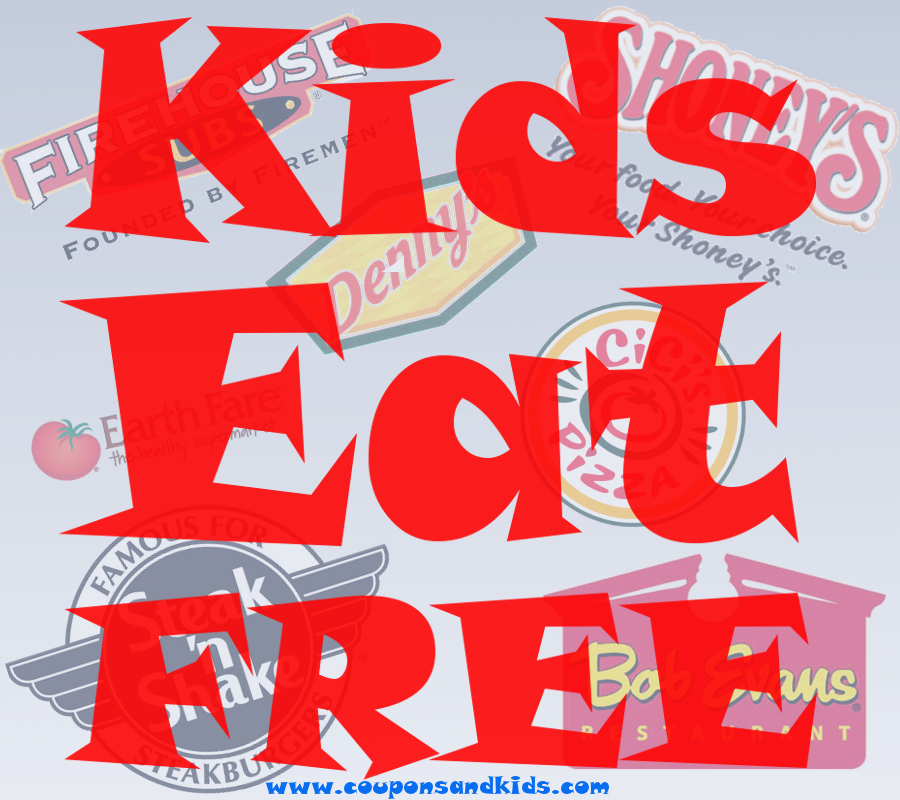 Kids Eat Free deals from CouponsAndKids.com