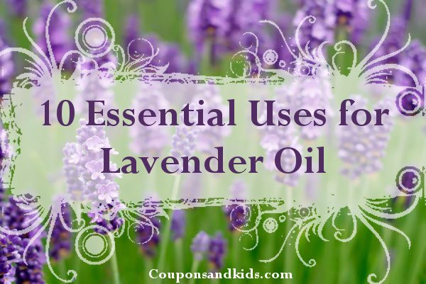 Uses for Lavender Oil from http://www.CouponsAndKids.com