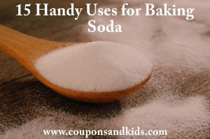 15 uses for baking soda from http://www.CouponsAndKids.com