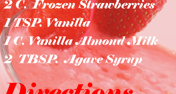 Delicious Strawberry Vanilla Smoothie recipe | CouponsAndKids.com