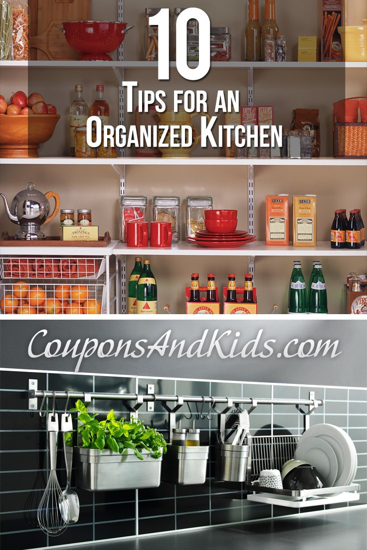 10 Tips for an Organized Kitchen from CouponsAndKids.com