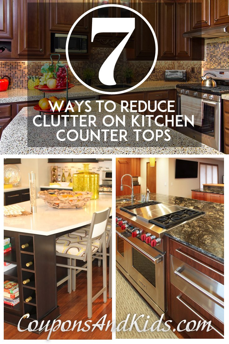 7 Ways to Reduce Clutter on Kitchen Countertops from CouponsAndKids.com